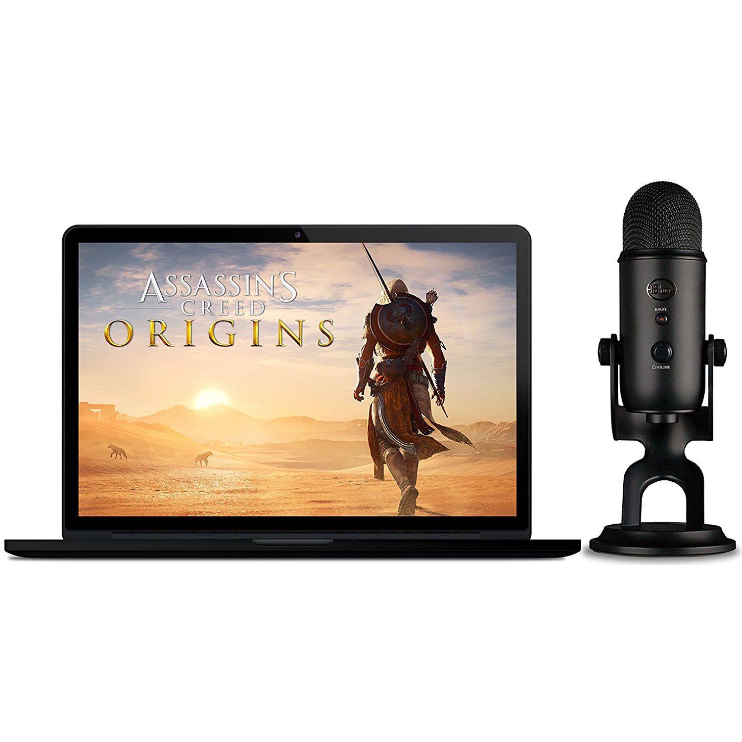 Blue Microphones Blackout Yeti With Pop Filter And