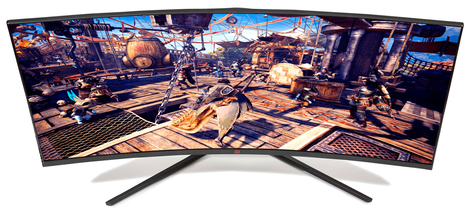LED widescreen curved monitor